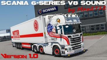 "Euro Truck Simulator 2 ""Новые звуки Scania 6-series V8 v1.0 (1.41.x)"""