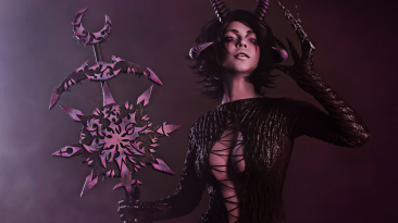 Обворожительный косплей Демонетки Слаанеш из Warhammer 40,000