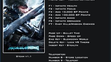 Metal Gear Rising ~ Revengeance: Трейнер/Trainer (+17) [1.1] {LinGon}