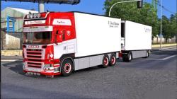 """Euro Truck Simulator 2 """"Грузовик Scania R500 Tandem + BDF Trailer v1.0 (v1.39.x)"""""""