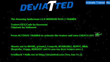 The Amazing Spider-Man Trainer: Трейнер/Trainer (+3) [1.0] {Kavvman / DEVIATED}