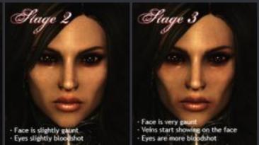 "Skyrim ""Динамическое изменение лица вампира / DVA Dynamic Vampire Appearance"""