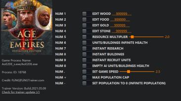 Age of Empires 2 - Definitive Edition: Трейнер/Trainer (+13) [1.0 - Build.47820] {FLiNG}