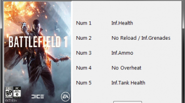 Battlefield 1: Трейнер/Trainer (+5) [1.0.47.30570] {Blayde}