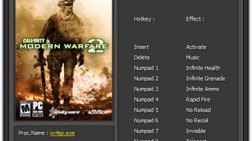 Call of Duty - Modern Warfare 2: Трейнер/Trainer (+8) [1.0] {Enjoy}