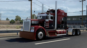 "American Truck Simulator ""Kenworth w900 l/b Custom v1.0 (1.40)"""