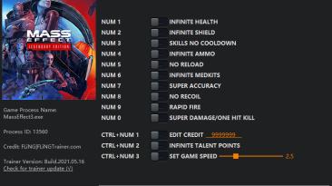 Mass Effect Legendary Edition (Mass Effect 3): Трейнер/Trainer (+13) [1.0] {FLiNG}