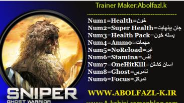 Sniper: Ghost Warrior: Трейнер/Trainer (+8) [1.1 - 1.2] {Abolfazl-k}
