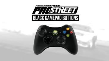 "Need for Speed ProStreet ""Чёрные иконки кнопок геймпадов (Xbox & PlayStation)"""