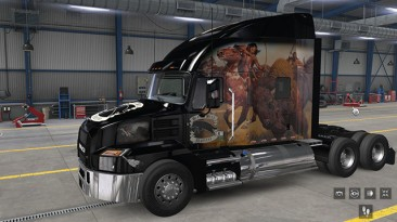 """American Truck Simulator """"Skin Black Wolf company Mack Anthem All Cab ATS and ETS2 1.37.x и Выше"""""""