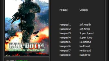 Call of Duty 4 - Modern Warfare: Trainer/Трейнер [v1.7.568] {Enjoy][ENj}