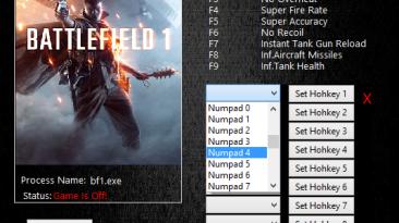 Battlefield 1: Трейнер/Trainer (+10) [20401] {MrAntiFun}