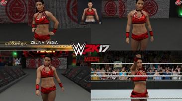 """WWE 2K17 """"Zelina Vega Clash of Champions 2020 Наряд (Лицевая анимация) WWE 2K19 Порт мод"""""""