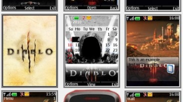 "Diablo 3 ""Theme for Nokia s40 240x320"" by Yurax"