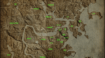 """Fallout 4 """"Карта Содружества \ Commonwealth Physical Map"""""""