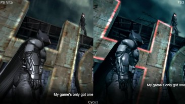 Batman Arkham Origins Blackgate PS Vita vs PS3 Сравнение графики
