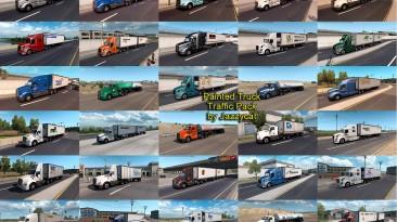 """American Truck Simulator """"Пак грузовиков со скинами реальных компаний в траффик v4.1.3"""""""