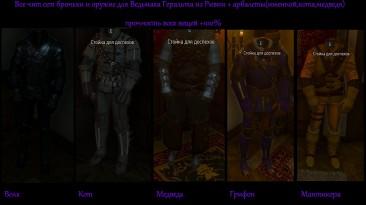 The Witcher 3: Wild Hunt / Ведьмак 3: Дикая Охота: Чит-Мод/Cheat-Mode (Все чит-сеты грандмастерского снаряжения)