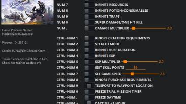 Horizon: Zero Dawn - Complete Edition: Трейнер/Trainer (+18/+24/+28) [1.0 - 1.08] {FLiNG}