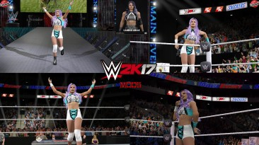 "WWE 2K17 ""Candice LeRae '21 Наряд (Лицевая анимация) WWE 2K19 Порт Мод"""