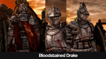 "Dark Souls 2 ""Bloodstained Drake - DLC Drakeblood armor"""