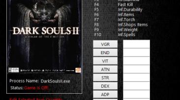 Dark Souls 2 Scholar of the First Sin: Трейнер/Trainer (+21) [1.02] {MrAntiFun}