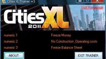 Cities XL 2011: Трейнер (+3) [1.0] {H4XXOR}