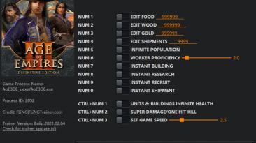 Age of Empires 3 - Definitive Edition: Трейнер/Trainer (+13) [1.0 - 14825] {FLiNG}