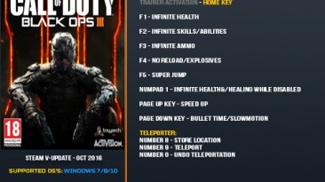 Call of Duty: Black Ops 3: Трейнер/Trainer (+9) [Update Oct 2016: only steam] {LinGon}