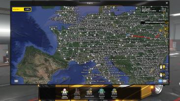 """Euro Truck Simulator 2 """"Русские названия городов карты MHAPro 1.36"""""""