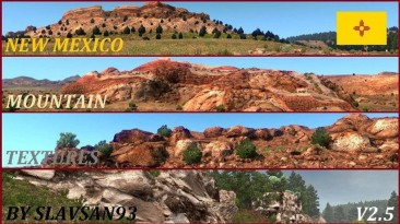 """American Truck Simulator """"New Mexico Mountain Textures"""" v 2.5 (1.34)"""