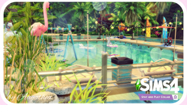 "The Sims 4 ""Пляж 30x30 - Pink Flamingo Beach"""