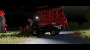 Farming Simulator 19 - Уборка хлопка двумя уборочными комбайнами