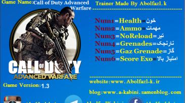 Call Of Duty: Advanced Warfare: Трейнер/Trainer (+6) [1.3 - 1.6] {Abolfazl.k}