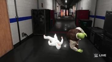 WWE 2K18 - Жель Пауль против Шрека