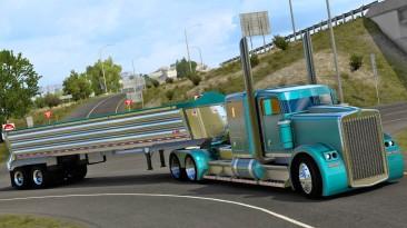 "American Truck Simulator ""Прицеп Travis Wave Wedge EndDump в собственность (1.41.x)"""