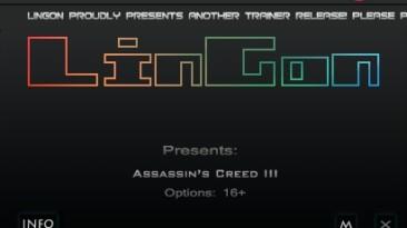 Assassin's Creed 3: Трейнер/Trainer (+16) [1.01] {LinGon}