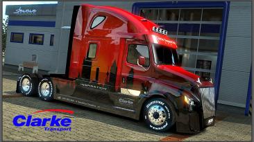 "American Truck Simulator ""16 Красивых Скинов для Freightliner Cascadia 2018 fix v1.16 ATS 1.37.x"""