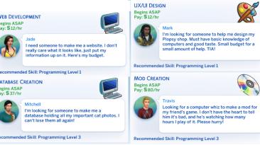 """The Sims 4 """"Подработки для программистов"""""""