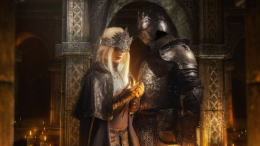Косплей Хранительницы огня и Негорящего из Dark Souls 3