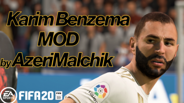"FIFA 20 ""Karim Benzema Face mod by AzeriMalchik"""