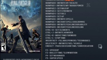 Final Fantasy 15: Трейнер/Trainer (+26) [1.02] {LinGon} - Fixed Version