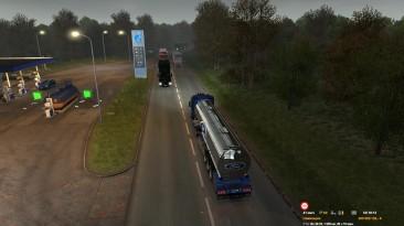 Euro Truck Simulator 2. Ford F-Max. Заснул за рулем.