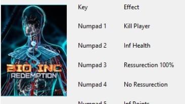 Bio Inc Redemption: Трейнер/Trainer (+5) [All Version] {Nikolt}