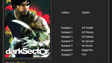 Dark Sector: Трейнер/Trainer [v1.1] {Enjoy / ENJ}