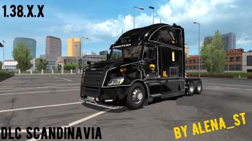 Euro Truck Simulator 2: Сохранение/SaveGame (100% дорог, куча денег, открыто все) [1.38: DLC Scandinavia]