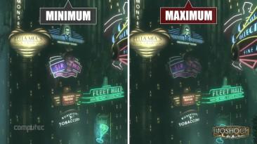 """Bioshock: The Collection """"Сравнение минимальных и максимальных настроек на PC"""""""