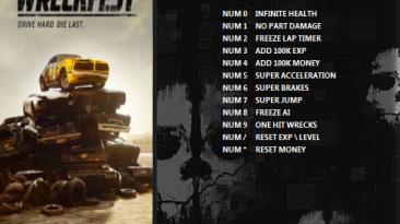 Wreckfest: Трейнер/Trainer (+12) [1.270990] {ArmY of 0n3}