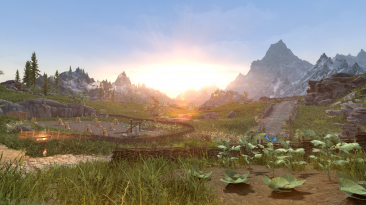 """Skyrim """"Деревенская погода и новое освещение"""""""