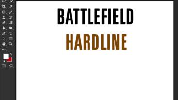"Battlefield: Hardline ""Шрифт для фотошопа и прочих редакторов"""